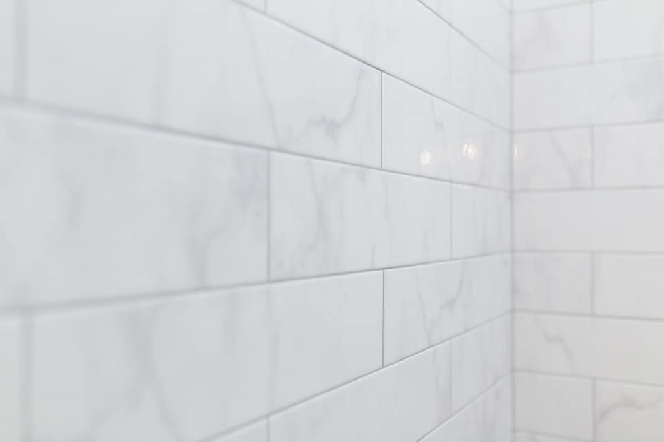 Summerhill Cambria And Marble Penny Tile Bathroom Muse Kitchen And Bath