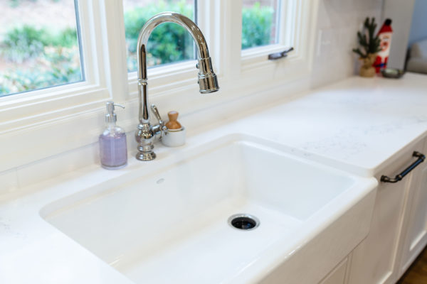 Farmhouse sink kitchen remodel project
