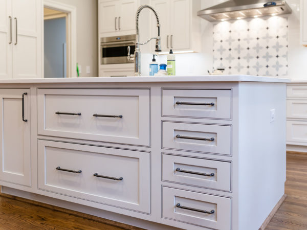 Kitchen island with farmhouse sink kitchen remodel