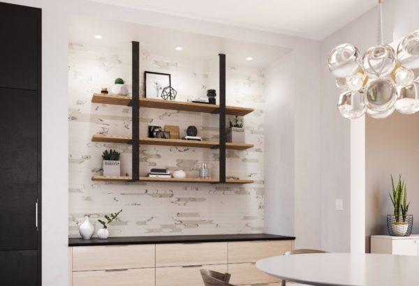 Bathroom shelf update. Tile wall upgrade