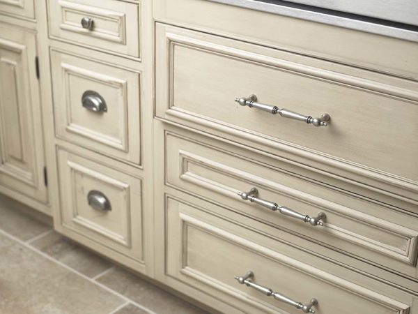 custom cabinetry work with pulls
