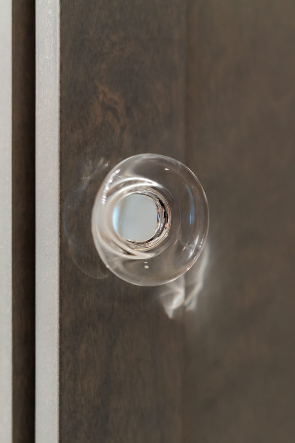 clear bathroom knob